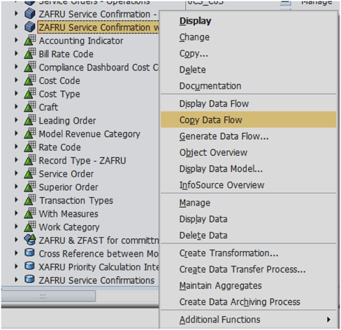 How to Create a Complete Copy of a SAP BW 7 3 Dataflow