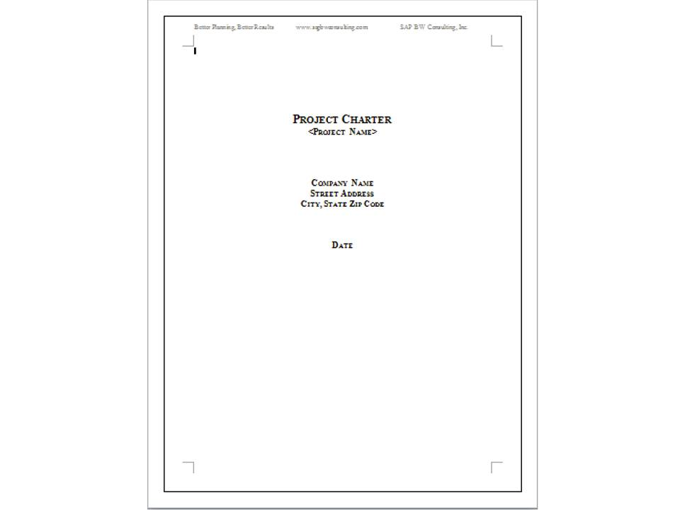 In Project Management How To Use a Project Charter to Start a New Project