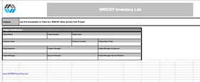 WRICEF Inventory List