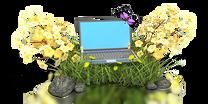 laptop in flowers pc 400 clr 1735