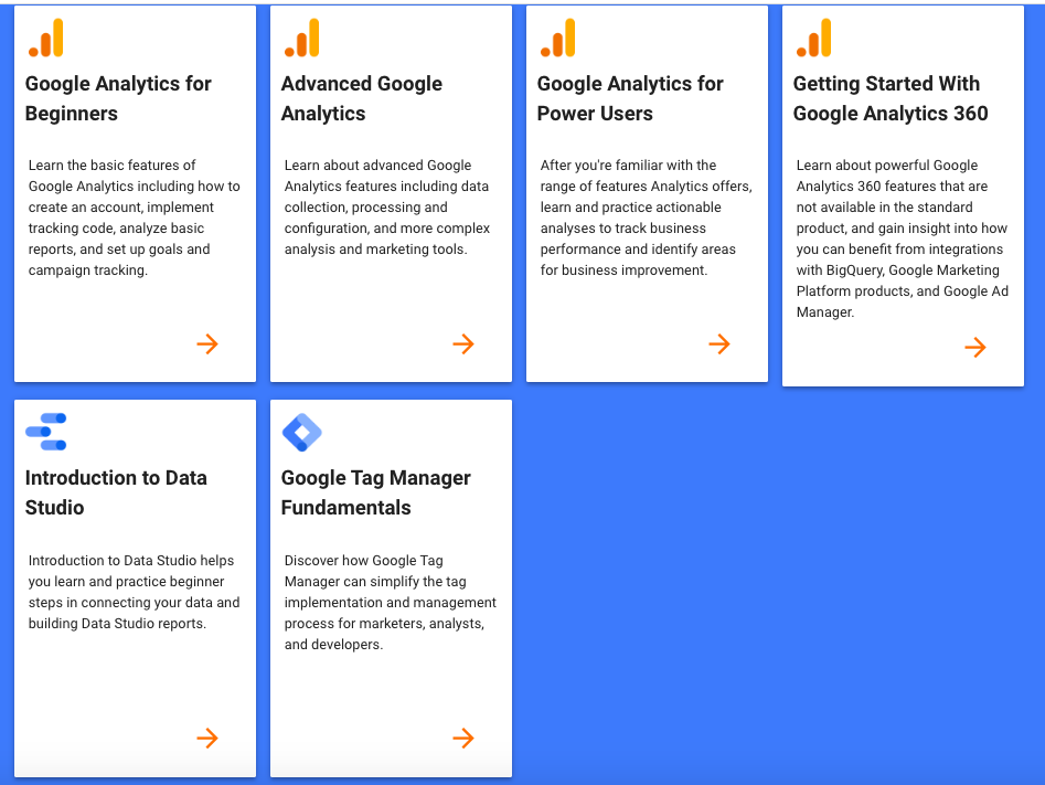 Google Analytics Courses